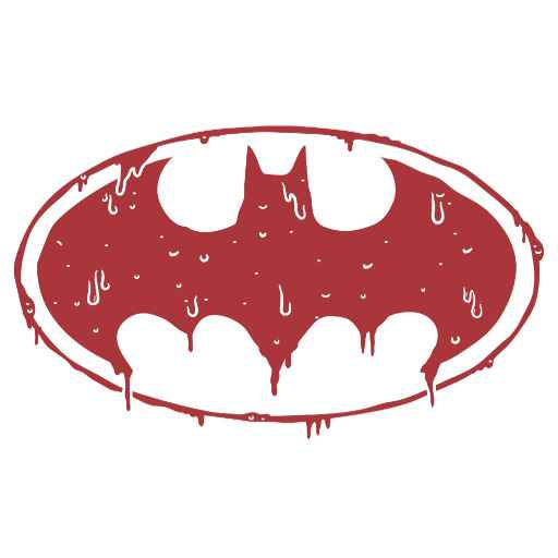Batman | Oozing Red Bat Logo