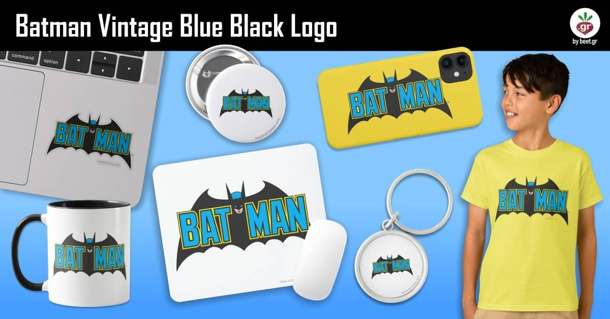 Batman | Vintage Blue Black Logo