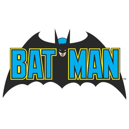 Batman | Vintage Blue Black Logo