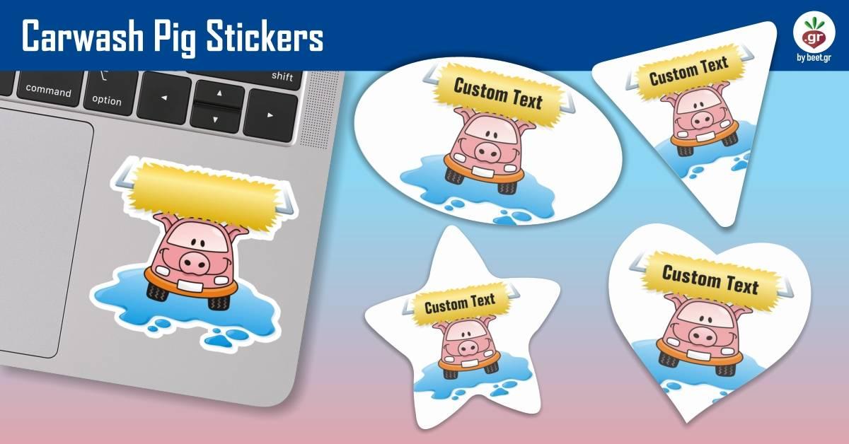 Carwash Pig Stickers