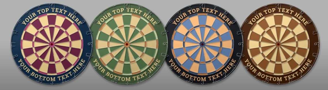 Designer Colors Dartboard Collection