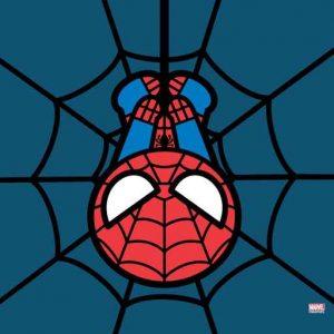 Kawaii Spiderman Hanging Upside Down