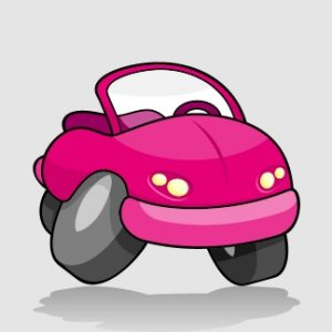 Pink Cartoon Car