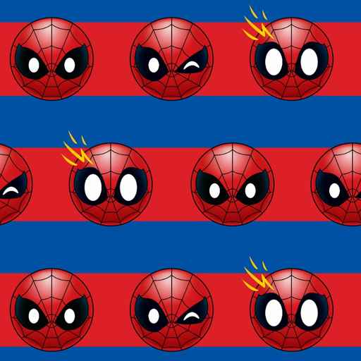 Spiderman Emoji Stripe Pattern