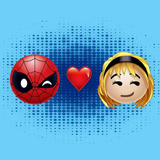 Spiderman & Gwen Heart Emoji
