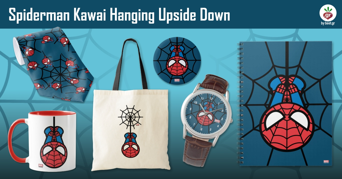 Kawaii Spiderman Hanging Upside Down
