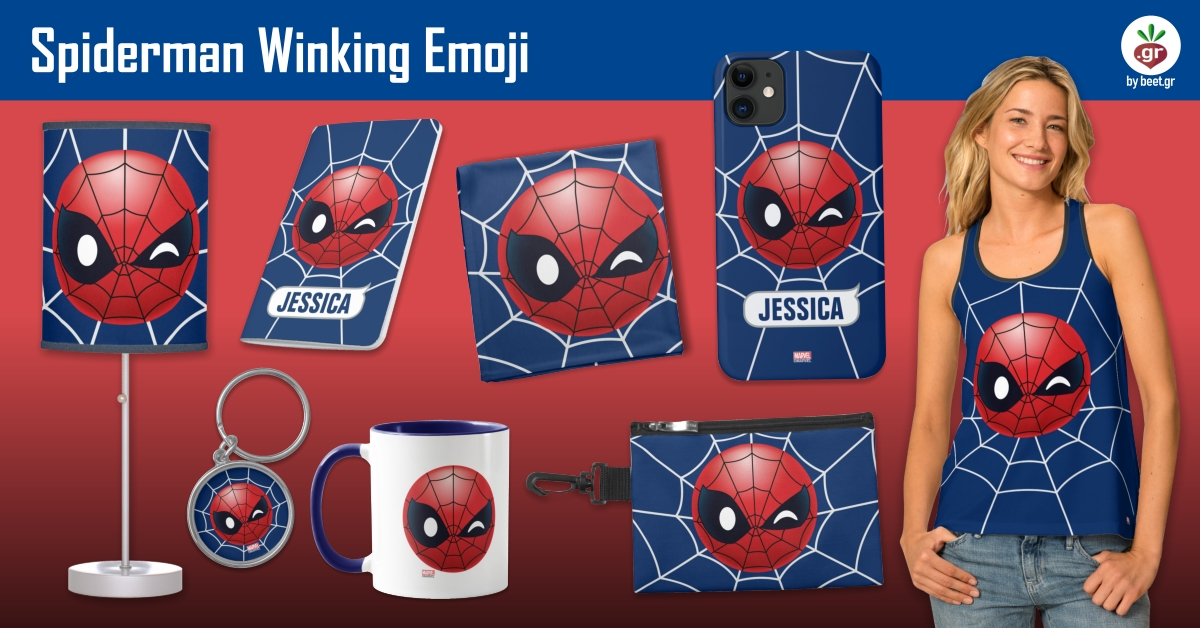 Winking Spiderman Emoji