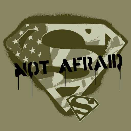 Superman S-Shield | US Camo - Not Afraid Logo