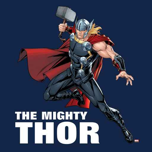 Thor Leaping With Mjolnir