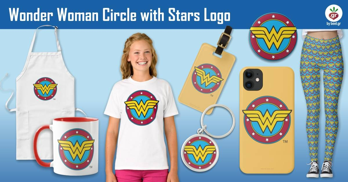 Wonder Woman Circle & Stars Logo