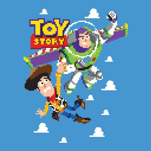 8Bit Woody and Buzz Lightyear