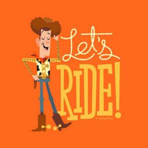 "Woody Illustration ""Let's Ride"""