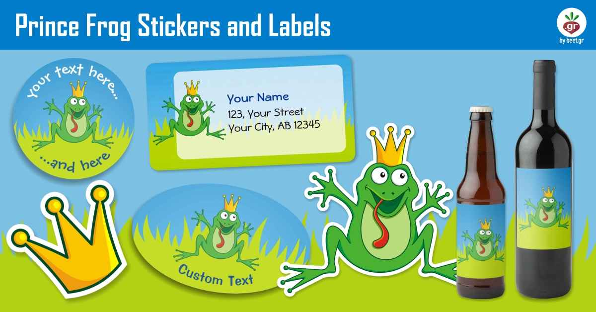 Prince Frog Stickers and Labels