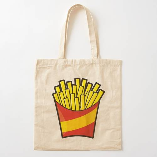 French Fries Cotton Tote Bag