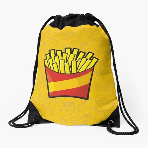 French Fries Drawstring Bag