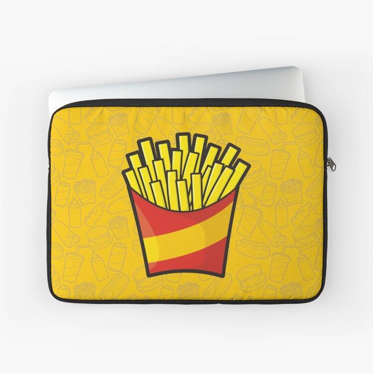 French Fries Laptop Case