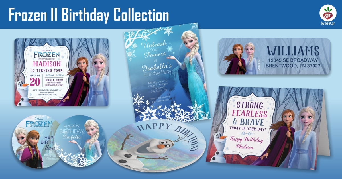 Frozen II Birthday Collection