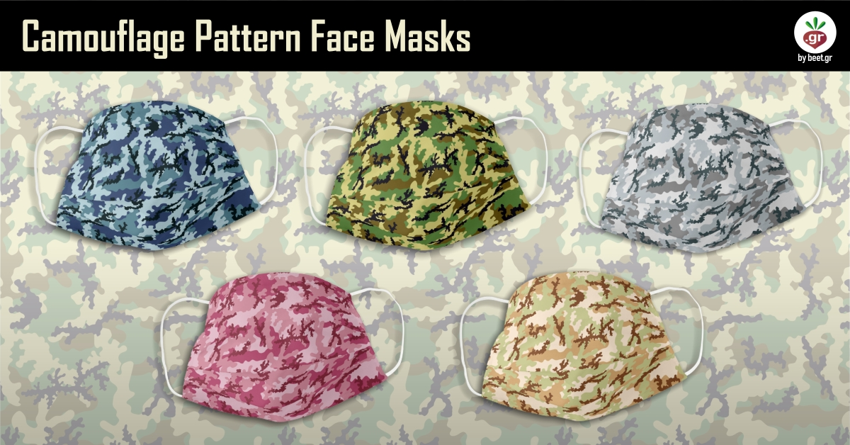 Camouflage Pattern Face Masks