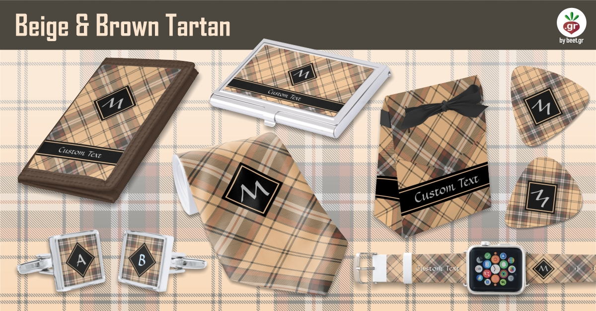 Beige and Brown Tartan