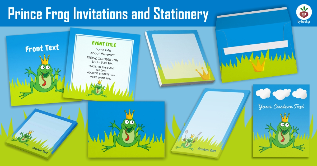 Prince Frog Ivitations and Stationery