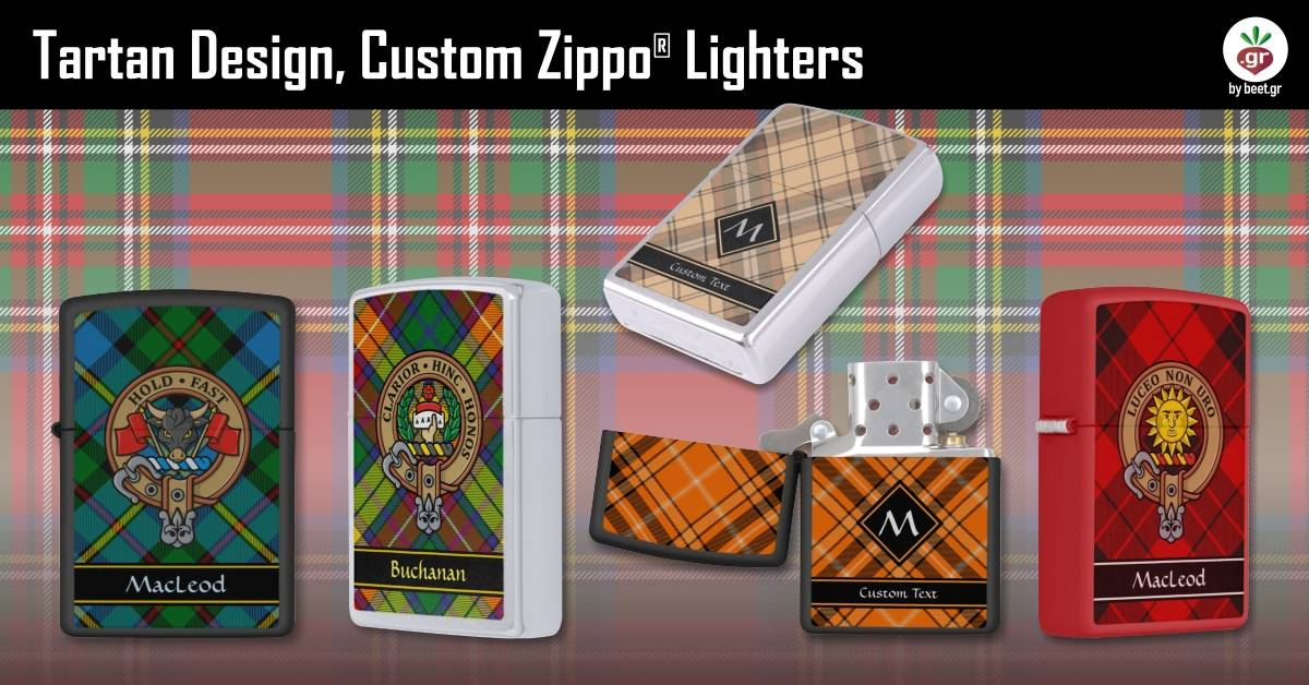 Tartan Design Custom Zippo Lighters